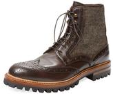 Antonio Maurizi Leather & Felt Wingtip Boot