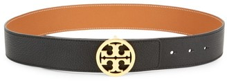 Tory Burch Logo Leather Belt