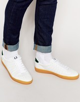 Fred Perry Umpire Leather Trainers - White