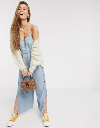 American Eagle strappy jumpsuit in blue