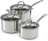 Marks and Spencer 3 Piece Stainless Steel Saucepan Set