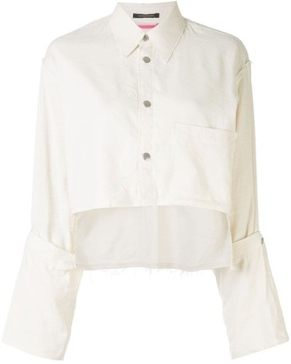 Y's Cropped Long-Sleeve Shirt