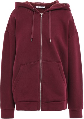 Alexander Wang Oversized French Cotton-blend Terry Hooded Jacket