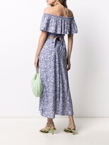 Thumbnail for your product : Rixo Floral Off-Shoulder Midi Dress
