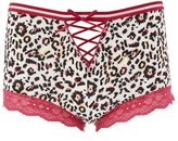 Charlotte Russe Plus Size Lace-Up Boyshort Panties