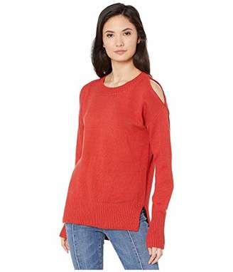 BCBGMAXAZRIA Women's Cold Shoulder Sweater