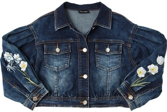 MonnaLisa Stretch Cotton Denim Jacket