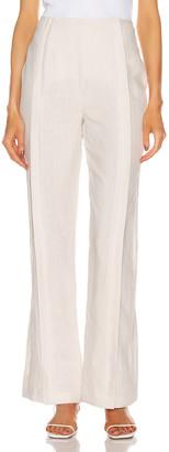 Acne Studios Linen Trouser Pant in White Melange | FWRD
