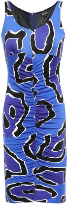 Just Cavalli Ruched Stretch-jersey Mini Dress