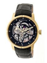 Heritor Ryder Mens Black Strap Watch-Herhr4604