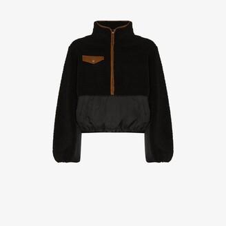 Frame Shell Panelled Fleece Jacket