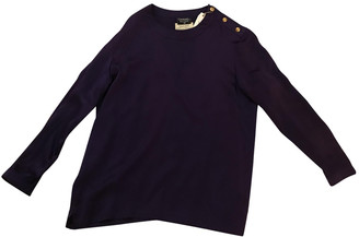 Chanel Purple Silk Tops