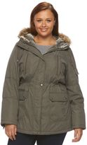 Details Plus Size Hooded Anorak Parka