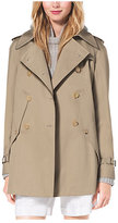 Michael Kors Cotton-Gabardine Trench Cape