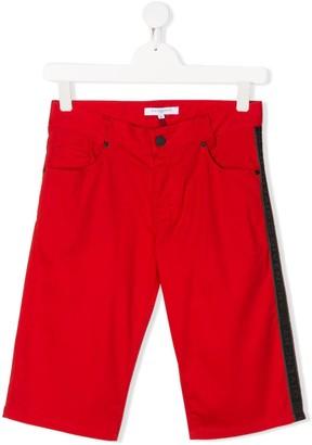 Givenchy Kids TEEN logo panel shorts