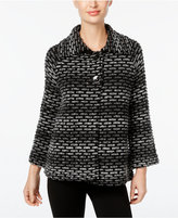 JM Collection Ombré Textured Cardigan, Only at Macy's