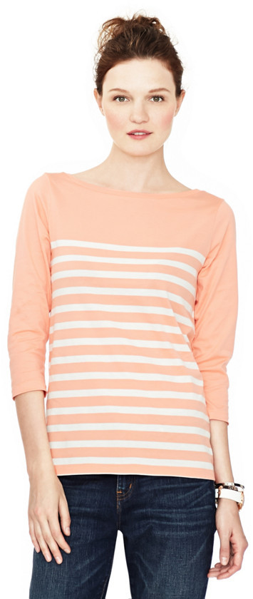 Fossil Rachel Striped 3/4 Sleeve Boat Neck Tee http://www.fossil.com/product/WC6440 $38.00