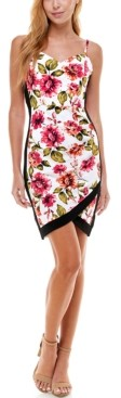 Thumbnail for your product : Almost Famous Juniors' Floral-Print Bodycon Dress