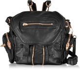 Alexander Wang Mini Marti Black Washed Leather Backpack