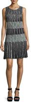 Missoni Optical Pleated Shift Dress