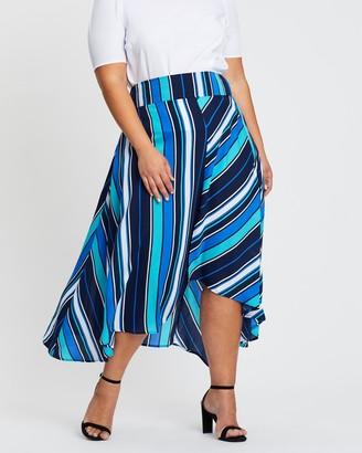 Atmos & Here Ally Asymmetric Skirt