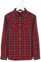 Dolce & Gabbana studded checked shirt