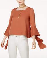 J.o.a. Cascading Bell-Sleeve Top