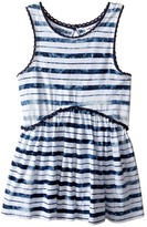 Splendid Littles Indigo Striped Tie-Dye Swing Top Girl's Clothing