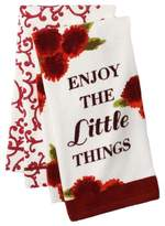 "Croft & Barrow Enjoy The Little Things"" Kitchen Towel Set 2 Pack"
