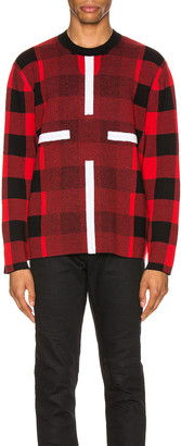 Craig Green Birdseye Plaid Jumper in Red | FWRD