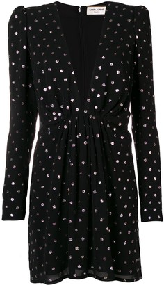 Saint Laurent Polka Dot Dress