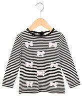 Kate Spade Girls' Bow-Accented Striped Top w/ Tags