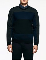 Calvin Klein Platinum Tonal Striped Sweatshirt