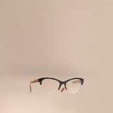 Burberry Half-rimmed Cat-eye Optical Frames
