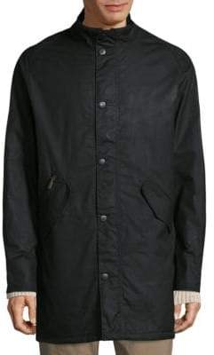 Barbour High-Neck Snap Cotton Jacket