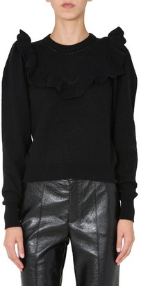 Philosophy di Lorenzo Serafini Ruffle-Detailed Knit Sweater