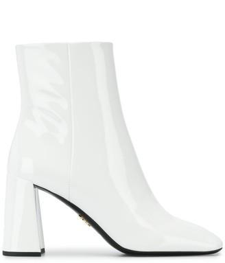 Prada Square Toe Ankle Boots