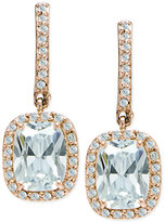 Giani Bernini Cubic Zirconia Halo Drop Earrings in 18k Rose Gold-Plated Sterling Silver, Only at Macy's