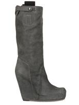 Rick Owens 130mm Calfskin Wedge Boot