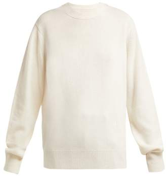 Helmut Lang Cashmere Ring-shoulder Sweater - Womens - Beige