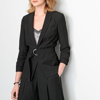 Anne Weyburn Short Fitted Jacket with Detachable Belt