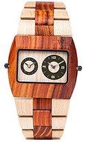 WeWood Mens D2BEBR Jupiter Beige-Brown Wood Watch