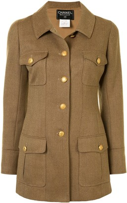 Chanel Pre Owned 1996 Cutaway Collar Coat