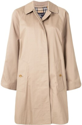 Burberry Pre Owned Concealed Fastening Straight-Fit Coat