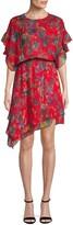 Iro . Jeans Iro Jeans Ruffle Floral Silk Dress