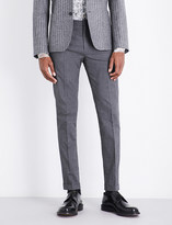 Paul Smith Diamond-patterned slim-fit stretch-cotton trousers