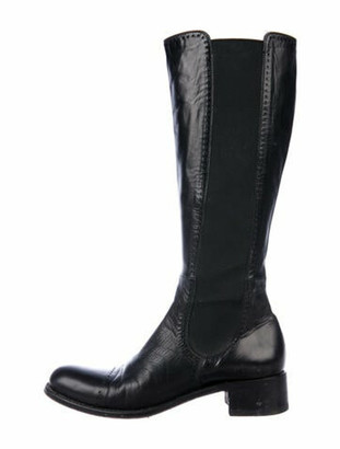 Rocco P. Leather Riding Boots Black