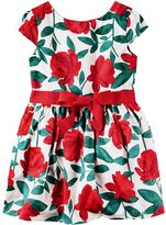 Carter's Girls 4-8 Red Floral Dress