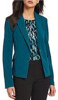 Calvin Klein Petites Scuba Crepe Suiting One-Button Cutaway Jacket