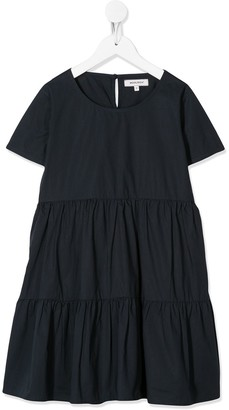 Woolrich Kids Pleated Panelled Dress